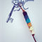 FREE POST key ring with ombre blue and gold accent, key chain, bag charm
