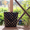 Black & Gold Cross Canvas Tote / Sopping Bag