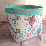 Gift for Mum, Soul Blossoms Fabric Storage Basket, Bedroom Decor