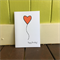 Heart Balloon Card, Happy Birthday Card, Handmade Die Cuts, Orange Card