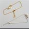 Heart & Pearl ring bracelet (Gold, Silver)