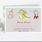 Knights & Dragon Printable Invitation