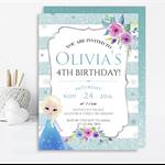 Girls Ice Princess Printable Invitation