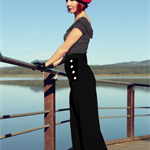 High Waisted Retro Sailor Pants