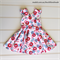 Girls Vintage Retro Party Dress, Size 4, Custom Design Available