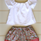 Girls Skirt and Top Blouse, Size 2, Custom Design Available