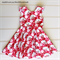 Girls Vintage Retro Party Dress, Size 7, Custom Design Available