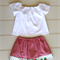 Girls Skirt and Top Blouse, Size 3, Custom Design Available