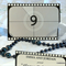 5 x Film Reel Table Numbers for Hollywood weddings or parties
