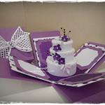 Glittery Cake box explosion card
