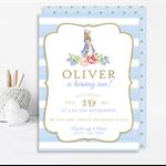Printable Boys Peter Rabbit Birthday Invitation