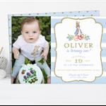 Printable Boys Peter Rabbit Birthday Invitation with Photo