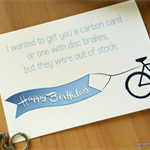 Bicycle Bike Cycling Birthday Card with envelope