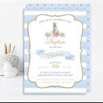 Printable Peter Rabbit Baptism, Christening, 1st Communion Invite