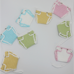 Baby Bunting / Baby Shower / Pink / Blue / Green / Yellow / Crochet