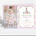 Printable Girls Peter Rabbit Birthday Invitation with Photo