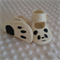 Pure wool hand stitched baby shoes / booties - panda print