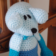 Dani Bear : crochet, safe, OOAK, washable, boy, baby shower, by CuddleCorner