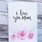 Mother's Day Card with pink watercolour roses