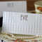 20 x 1920s art deco themed wedding place cards, embossed