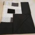 Black and White Baby Blanket / Cot Cover / Quilt / Play Mat.