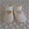 Pure wool hand stitched baby shoes / booties - lace
