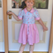 Girls Vintage Retro Party Dress, Size 3, Custom Orders Available