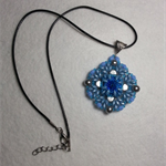 Rivoli Beaded Pendant Necklace