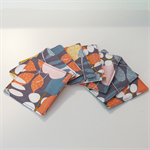 Fabric Coasters - Autumn Leaves Grey - Set of 8