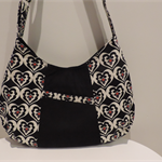 Funky Black Print Shoulder Bag