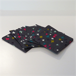Fabric Coasters - Grey - Set of 6
