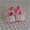 Pure wool hand stitched baby shoes / booties - embroidered silk bullion roses