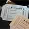 10 x Hollywood movie ticket advice card (+ envelope) wedding, party, babyshower