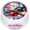Harley Quinn Personalised Edible Round Cake Topper - PRE-CUT