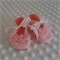 Pure wool hand stitched baby shoes / booties with rosettes