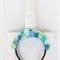 Unicorn Felt Rose Headband: Aqua Blue