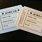 10 x Hollywood movie ticket advice card (+ envelope) wedding, party, babyshower
