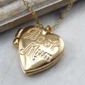 Mum Gold Heart Locket, Opening Locket,photo locket