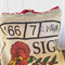 Recycled Sigri Coffee  Beach/Overnight Burlap/Hessian Tote Bag - Festive Red
