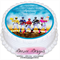Power Rangers Personalised Edible Round Cake Topper - PRE-CUT