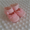 Pure wool hand stitched baby shoes / booties - with rosettes