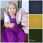 Plain Coloured Pinafore Pinny - Size 3 to 6