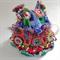 Unique embellished 4-6 cup crochet tea cosy.