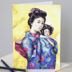 Greeting Card | Sun Mei & Little Tsan | Blank Card | A6 | OrientalIllustration