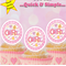 It's a Girl! circle EDIBLE wafer cupcake toppers