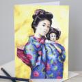 Greeting Card   Sun Mei & Little Tsan   Blank Card   A6   OrientalIllustration