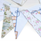 Vintage Bunting Embroidery / Cross Stitch & Floral Fabric Flags - High Tea Party