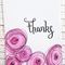 Thank you card with purple flowers