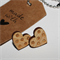 Wood Stud Earrings Laser Cut Bamboo Ply Spotty Dot Heart