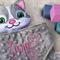 Minky Cat 'Snugabud' - personalised, comforter, keepsake, lovey.